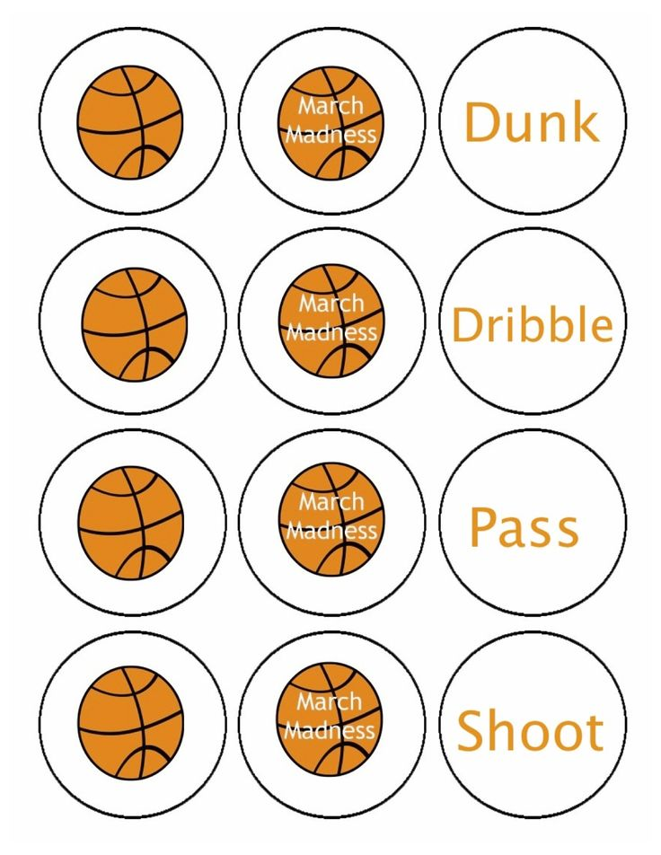 March Madness Decorations- Printable | download and print party circles here