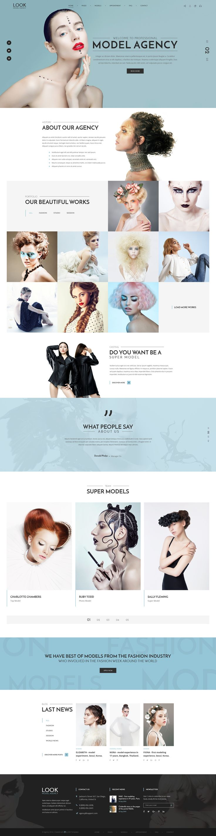 LOOK - Model Agency PSD Template • Download ➝ https://themeforest.net/item/look-model-agency-psd-template/16992958?ref=pxcr
