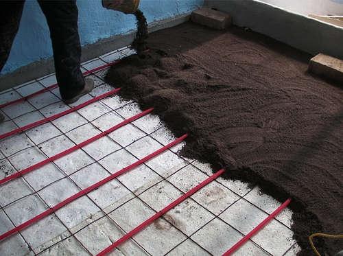 Preparation for Brick FlooringPreparing
