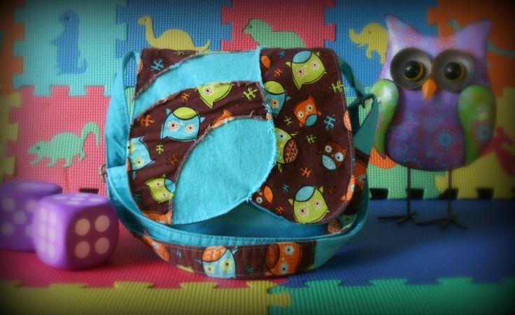 Sac messager turquoise pour enfant - Sac à bandoulière hiboux - Sac à main bohème de la boutique Mafelou sur Etsy