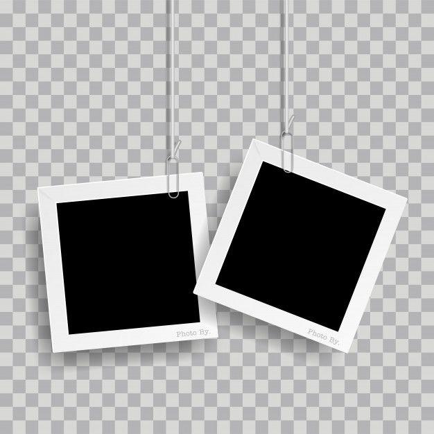 Retro Realistic Photo Frame With Paper C Free Vector Freepik Freevector Freebackground Freep Retro Photo Watercolour Texture Background Polaroid Frame