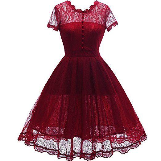 Amazon.com: IHOT Women's Vintage Floral Lace Cap Sleeve Retro Swing Elegant Bridesmaid Dress.: Clothing  https://www.amazon.com/gp/product/B01HXWWSJI/ref=as_li_qf_sp_asin_il_tl?ie=UTF8&tag=rockaclothsto-20&camp=1789&creative=9325&linkCode=as2&creativeASIN=B01HXWWSJI&linkId=150e69086189aae25671c98e7e1a8f44