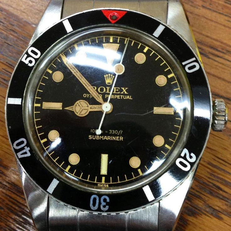 "Rolex - Bob's Watches (@bobswatches) on Instagram: ""New Unworn Old Rolex Submariner 6536/1 Late 1950's. ( not for sale ) . . . #rolexvintage #vrf…"""