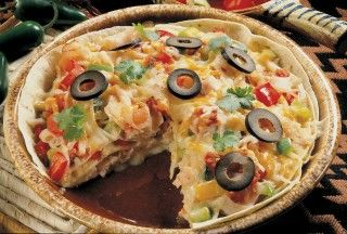Tarte pizza enchilada au dindon