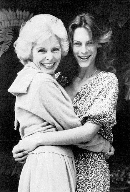 Mom & daughter, Janet Leigh and Jamie Lee Curtis