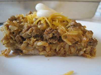 Brown Rice Taco Bake...a healthier version from the norm but looks soooo good :  )