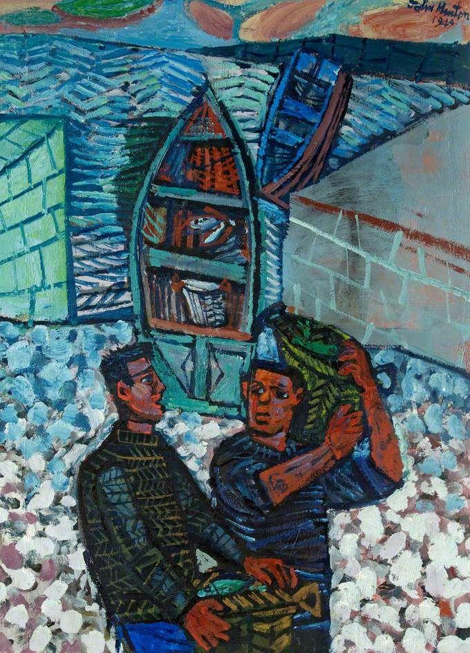 Two Fisherman, 1944 by John Minton (English 1917-1957)