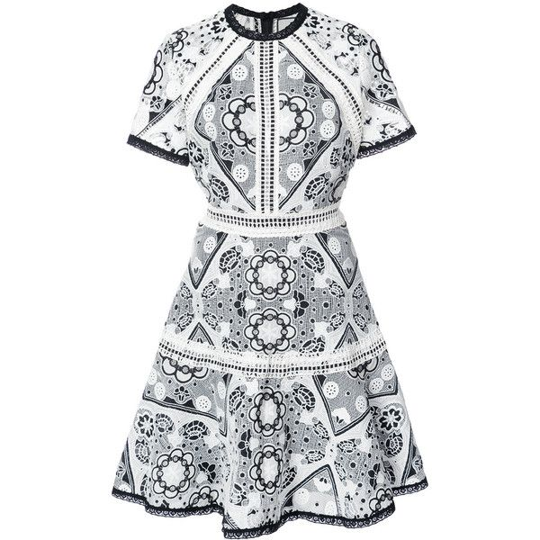 Alexis lace dress (32,105 DOP) ❤ liked on Polyvore featuring dresses, white, white lace dress, lace dress, white color dress, white dress and lacy dress