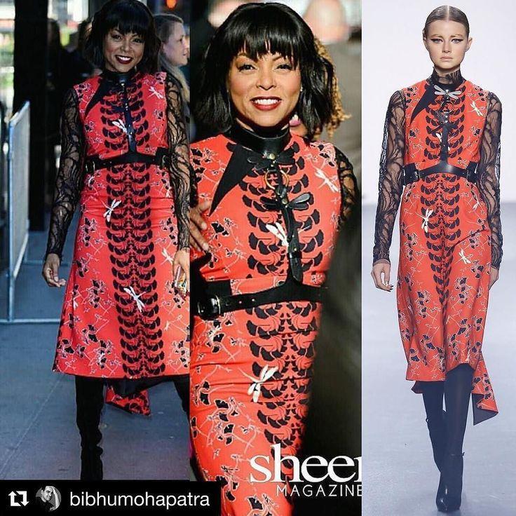 #Repost @bibhumohapatra with @repostapp  #Repost @tarajiphenson   Thank you #Repost @sheenmagazine  Check out @tarajiphenson as she swings by #GoodMorningAmerica live and in color in @bibhumohapatra #slay #fashion #style #instastyle #tarajiphenson #sheenmagazine #nyc #StreetStyle #celebritystyle #bgki #blackgirlsrock EmpireBBK.com
