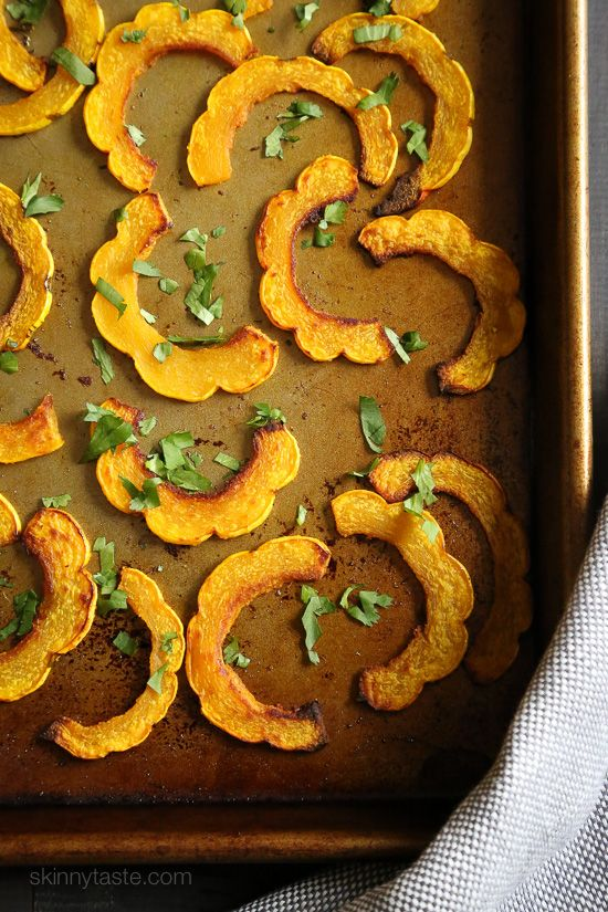 These are the perfect balance of savory and sweet, and because you don't have to peel the skin of the Delicate squash, it's pretty easy to prepare. A great Fall side dish with just about everything from chicken, to roasts and chops.