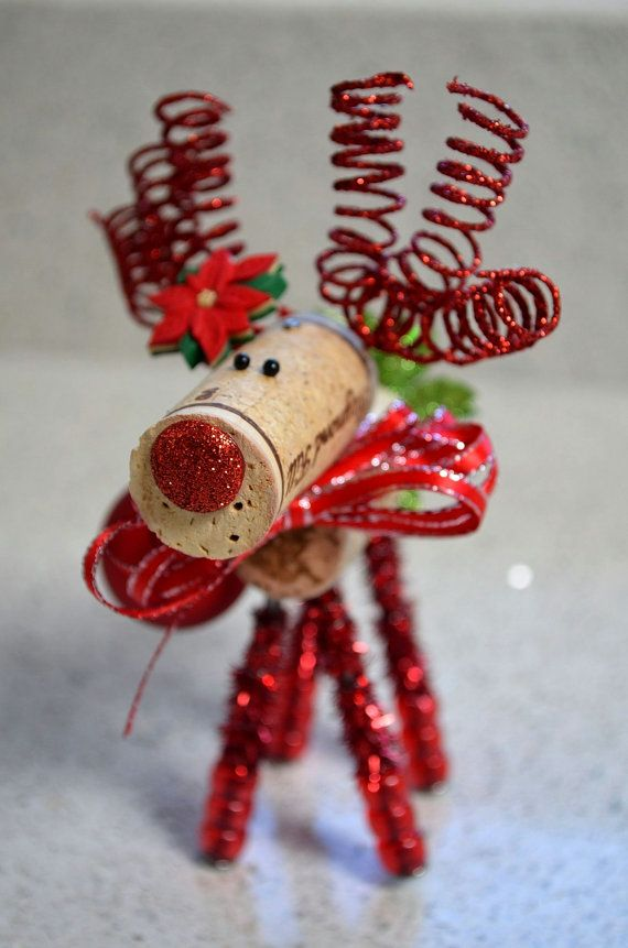 25 best ideas about reindeer ornaments on pinterest for Cork balls for crafts