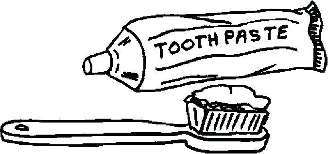 Toothpaste Clipart Coloring Page Picture 269626 Coloring Pages Fruits Drawing Color