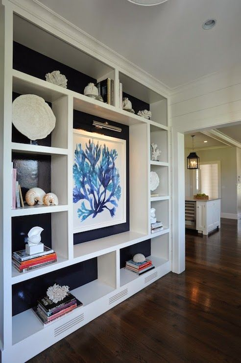 Nina Liddle Design - living rooms - modern built in shelves, wall of built in shelving, built in display shelves, wall length display shelve...