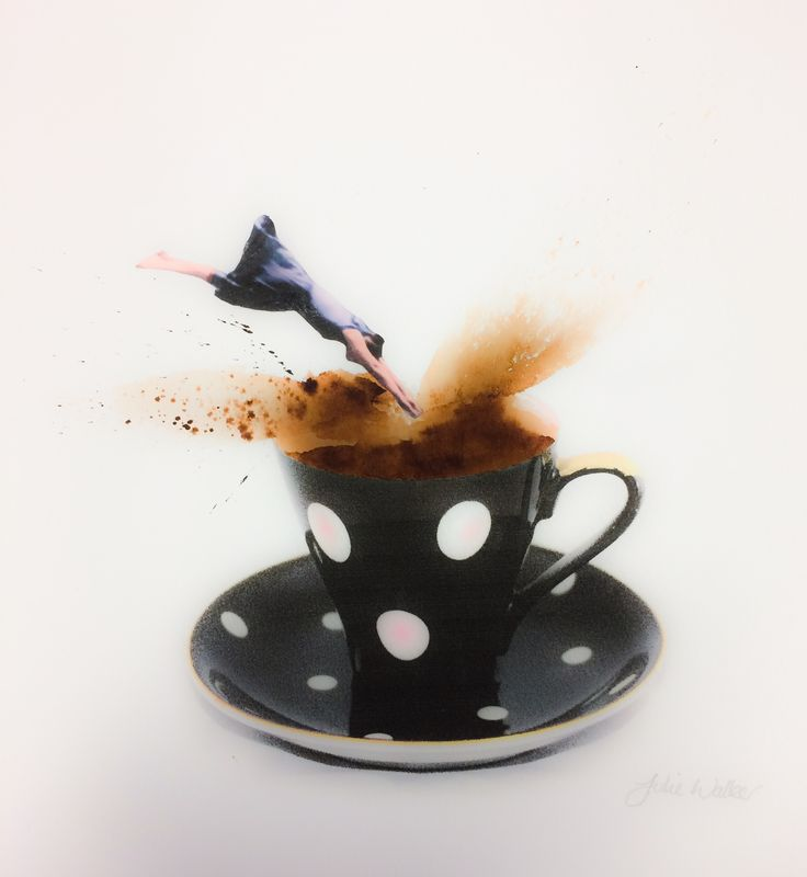 """""""Dive Straight In""""  Collage for coffee lovers ☕️❤️"""