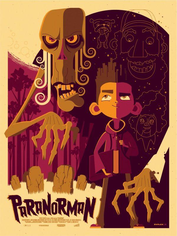 Paranorman by MondoFilm, Movie Posters, Tom Whalen, Paranorman, Picture-Black Posters, Posters Boards, Illustration, Disney Artworks, Graphics Design Posters