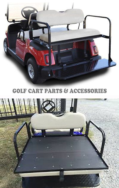 Other Golf Accessories 1514: Yamaha G16-22 Golf Cart Rear Flip Seat Kit (1995-2006) *Ivory Seat Cushions* -> BUY IT NOW ONLY: $260 on eBay!