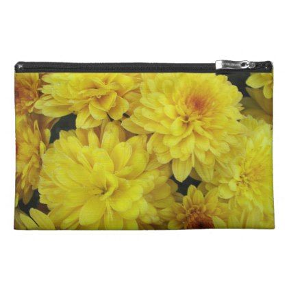 Yellow Chrysanthemums Floral Travel Accessory Bag - photography gifts diy custom unique special