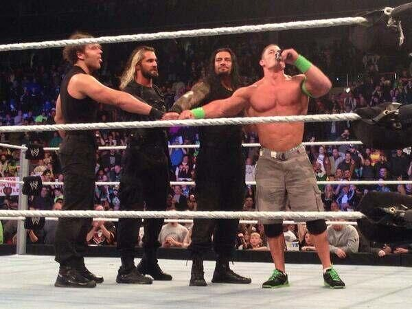 john cena and the shield, + Seth Rollins