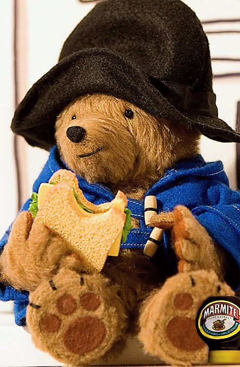 The new ad shows Paddington abandoning his traditional marmalade  sandwiches for Marmite