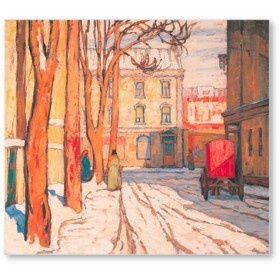 Toronto Street Winter Morning, 1920 by Lawren Harris (The Group of Seven)