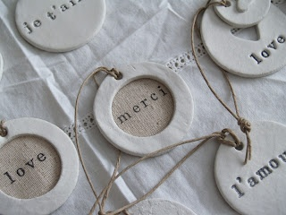 Handmade Clay Tags