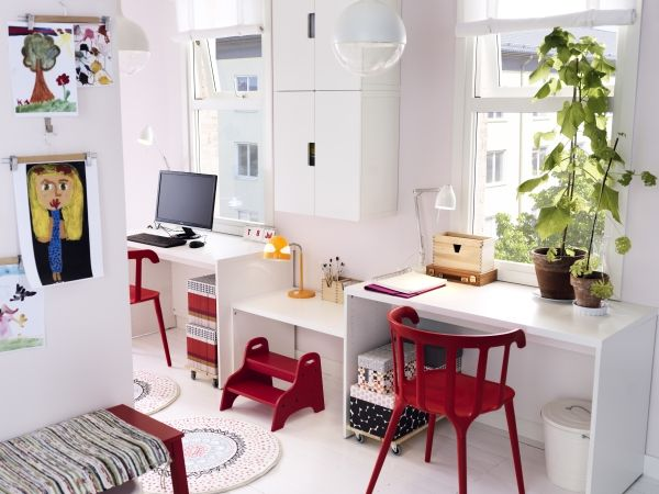 stuva storage bench can be used as a desk when the child gets older