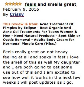 LOOK YOUR BEST -Healthy, Clear Skin Lets You Look Your Best and Gives You Confidence. Best Acne Treatment!  RAPID ACNE RELIEF - Notice the difference after one or two days, Fights Acne-Causing Bacteria NATURAL & ORGANIC ACNE CREAM - Combines an array of natural and organic ingredients for the Best Acne Spot Treatment! SOOTHING - Our customer's say it's the best acne treatment they have used, absorbs fast and leaves no residue Anti Acne Treatment Gel