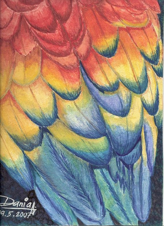 Feathers by MyriArt on Etsy, $40.00