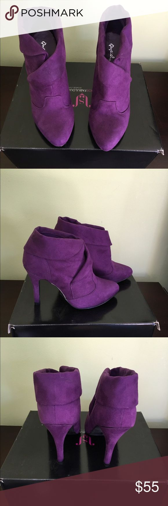 Gorgeous purple booties Very comfortable and stylish booties JustFab Shoes Ankle Boots & Booties