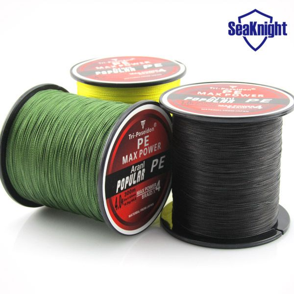 Find More Fishing Lines Information about TriPoseidon Brand  300M 330Yards Multifilament PE Braided Fishing Line 4 stands 8LB 10LB 20LB 30LB 40LB 60LB new 2015,High Quality Fishing Lines from SeaKnight Outdoor(China)Co.,Ltd on Aliexpress.com