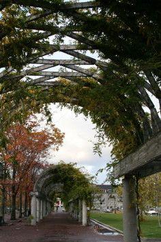 Christopher Columbus Waterfront Park in Boston Massachusetts is a beautiful park.