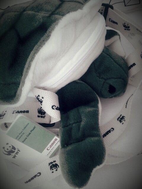Canon & WWF Turtle plush bag from Anna Club Plush