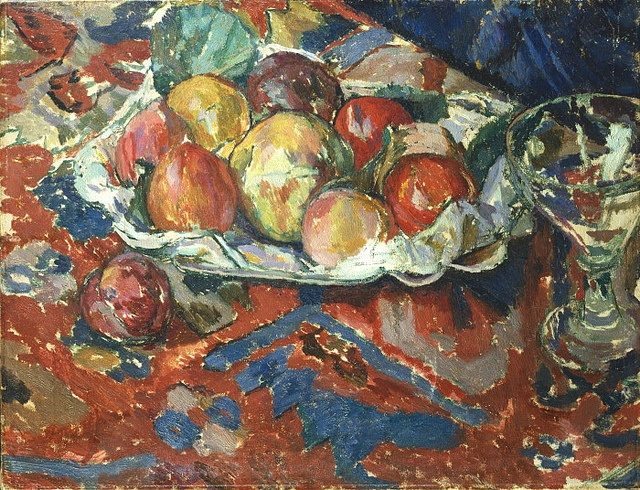 ✽    'still life with peaches'  -  duncan grant  -  ca 1910
