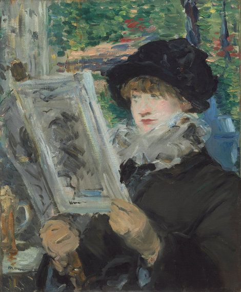 Edouard Manet, *Woman Reading 1879/1880 on ArtStack #edouard-manet #art