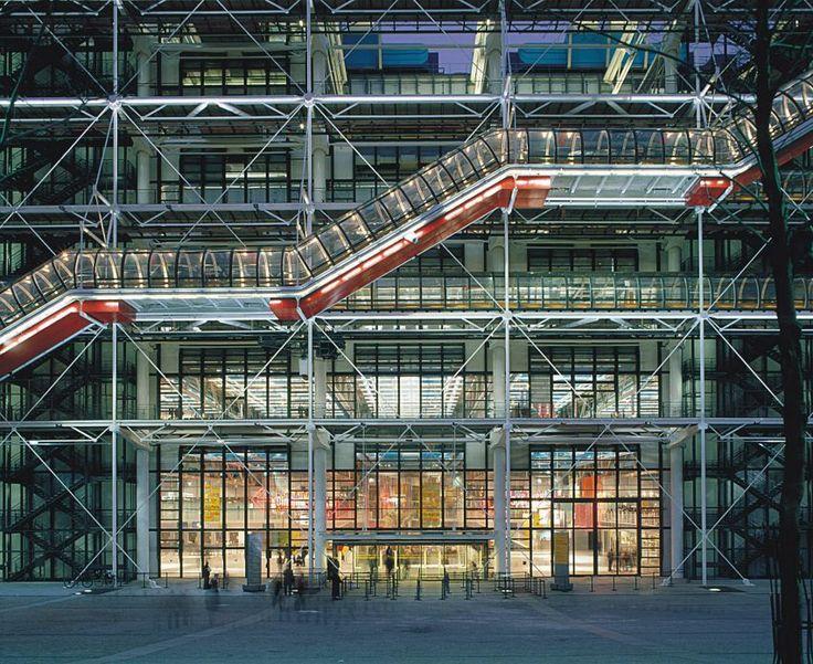 Piano e Rogers condividere fotografie Centre Pompidou sul 40 ° anniversario