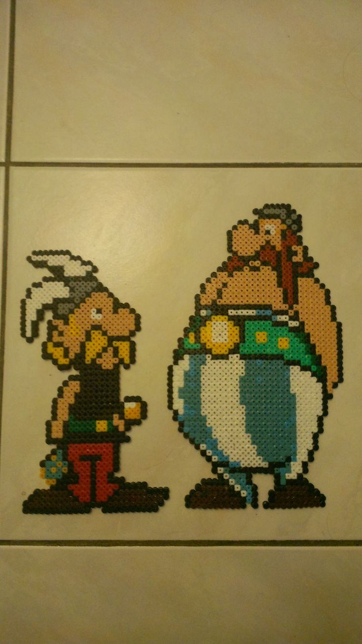 Asterix and Obelix hama beads by starwars75