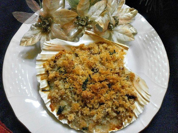 Capesante+Gratinate+al+Forno+Ricetta