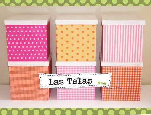 Cajas de cart n forradas con tela cajas pinterest box - Forrar cajas de carton con telas ...