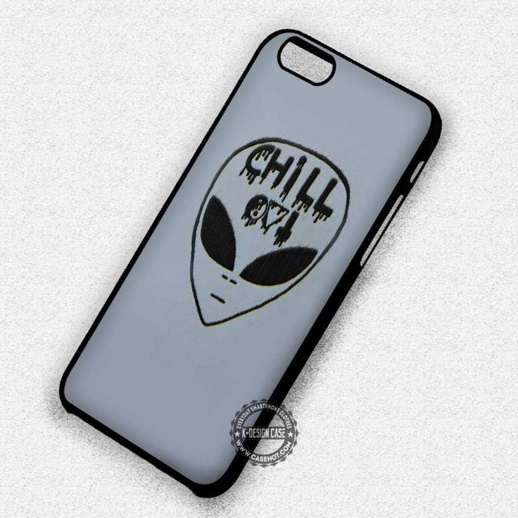 chill out alien emoji iphone 7 6s 5c 4s se cases covers