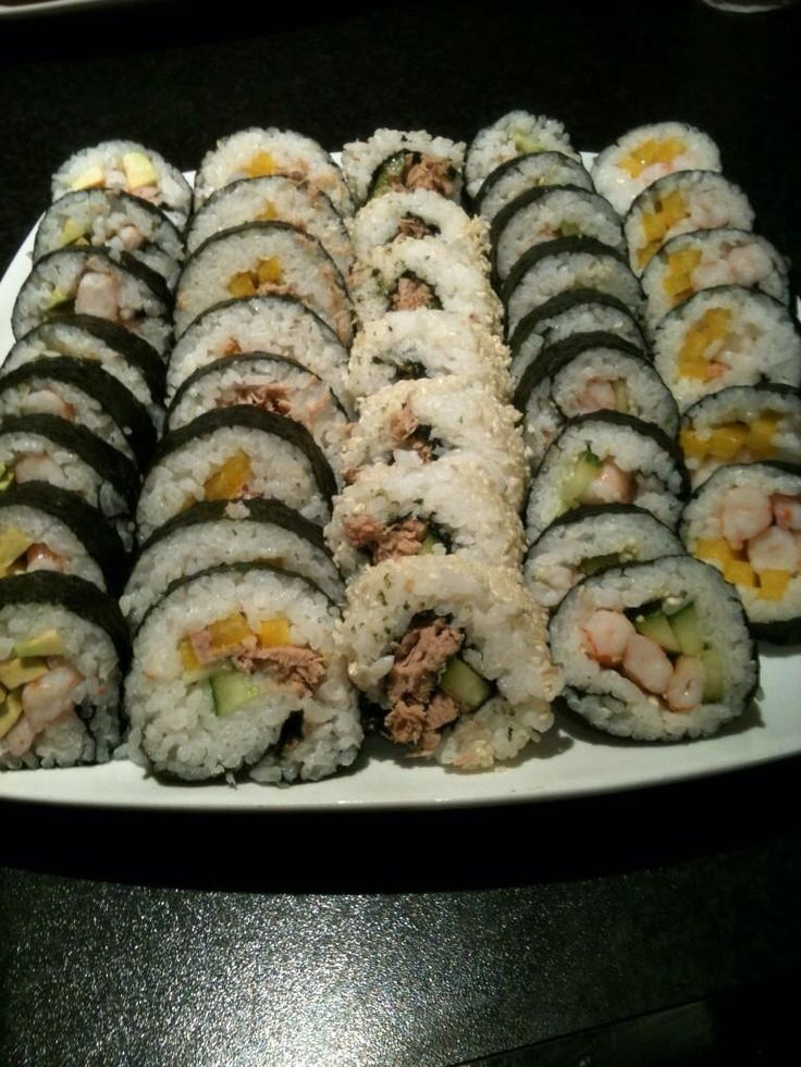 Homemade sushi - much easier than it looks!