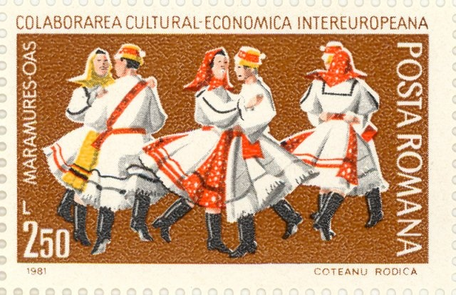 1981 Romania stamp  -  Folk dance from Maramures, Inter-European Cultural and Economics