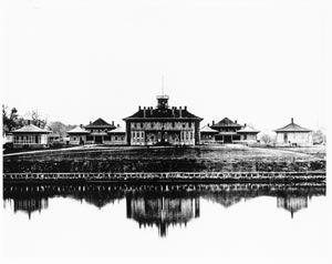 The Legislative buildings in Victoria about 1865