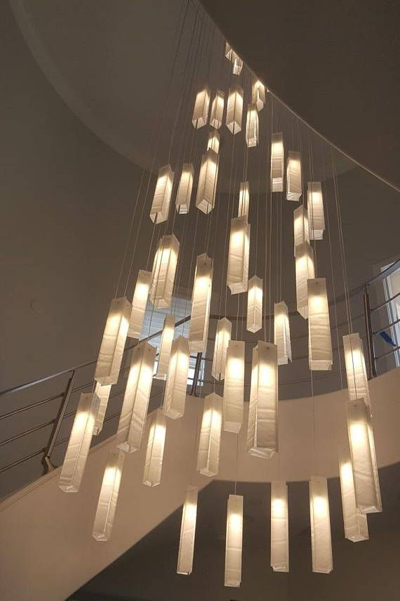 Modern Foyer Chandelier For Entrayway Or Stairway Lighting High Ceiling Lighting Staircase Chandelier Modern Chandelier