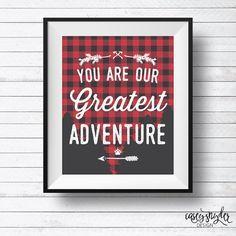 Lumberjack Camp Adventure Quote >> 8x10 << DIY Wall Art Printable Digital Download >> Nursery Child Room Decor Kids Baby Room