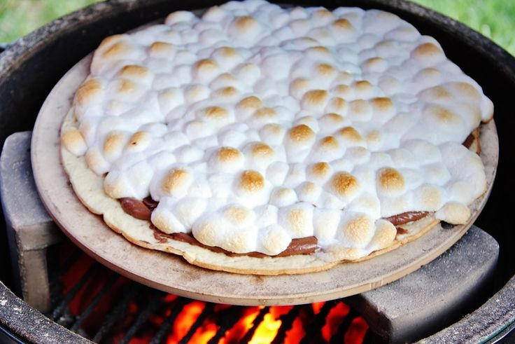 The perfect way to celebrate around a summer fire - Nutella Smores Pizza.  #BHGSummer