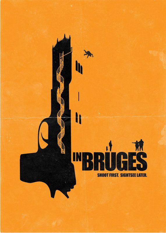 In Bruges - SImple yet brilliant. Minimalist movie poster #GangsterMovie #GangsterFlick