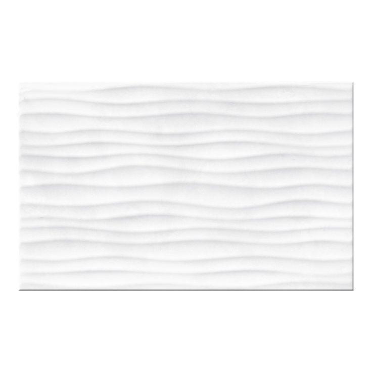 Płytka ścienna do wewnątrz pomieszczeń • Opakowanie zawiera 1,2 m2 ✓ Cersanit Glazura Leterne white struktura 25 cm x 40 cm połysk kup teraz w OBI!