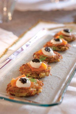 Potato Pancakes with Smoked Salmon | Hor Dourves | Pinterest | Potato ...