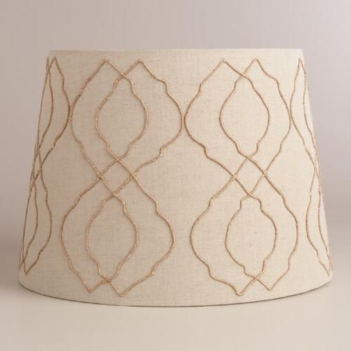 jute tile table lamp shade tile tables world and products. Black Bedroom Furniture Sets. Home Design Ideas
