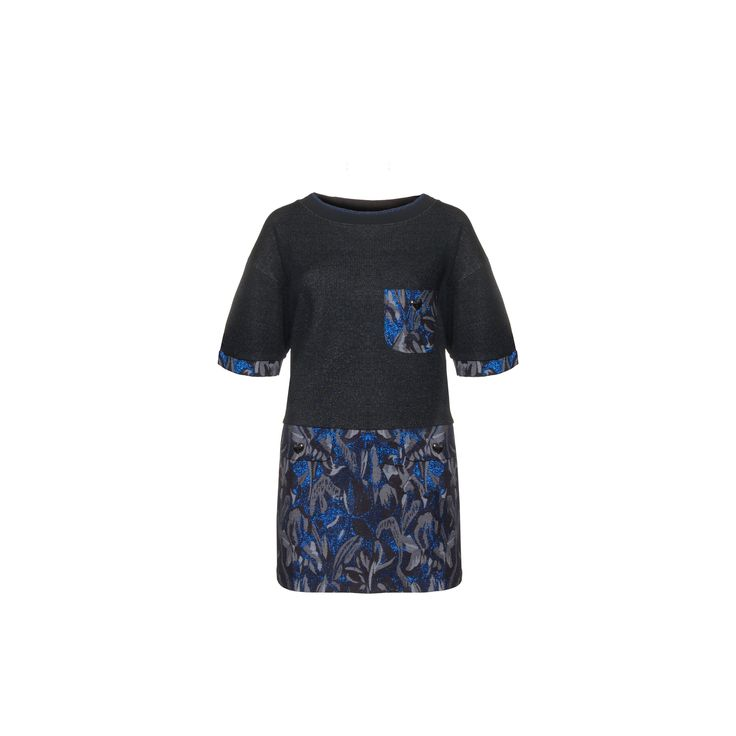 Naughty Dog #FW1415 over fleece and jacquard #dress with lurex effect; pockets decorated with dark  &silver heart-shaped buttons.